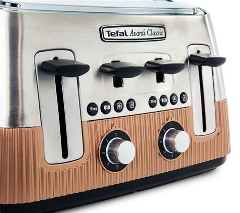 Buy Tefal Avanti Classic Tt780f40 4slice Toaster Copper