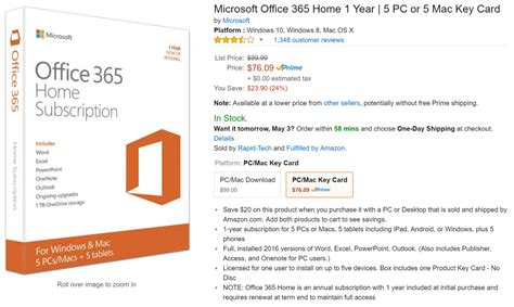 Office 365 Year by Office 365 On Sale For 76 09 For A Year At On Msft