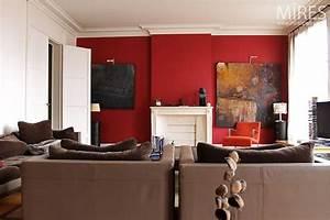 murs taupe et rouge ciabizcom With lovely idee couleur mur salon 11 la couleur saumon les tendances chez les couleurs d