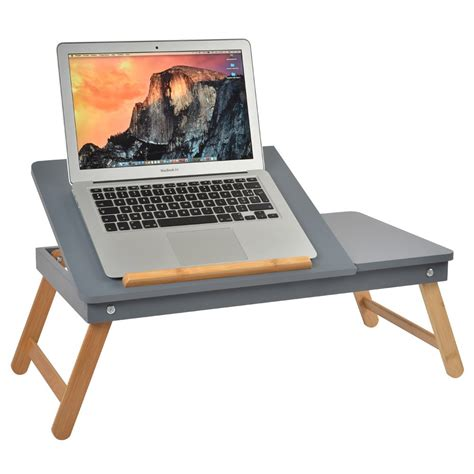 solde pc de bureau table ordinateur nomade grise la chaise longue