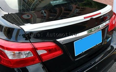 Unpainted ABS Rear Wing Trunk Aero Spoiler Wing For Nissan ...