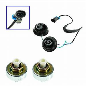 Knock Sensor With Harness Pair Kit Set For Chevy Gmc