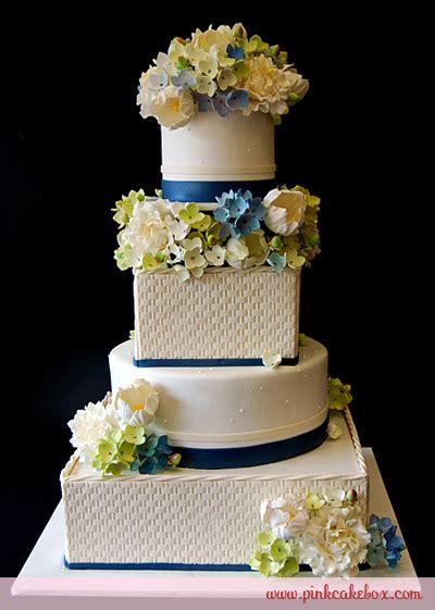 Basketweave Tulip And Hydrangea Wedding Cake » Spring