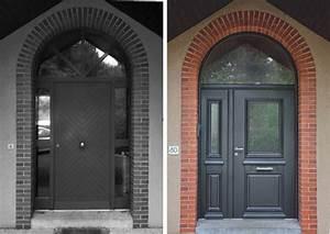 Porte Entrée Aluminium Rénovation : installation de porte d 39 entr e r novation sur mesure bel 39 m ~ Premium-room.com Idées de Décoration