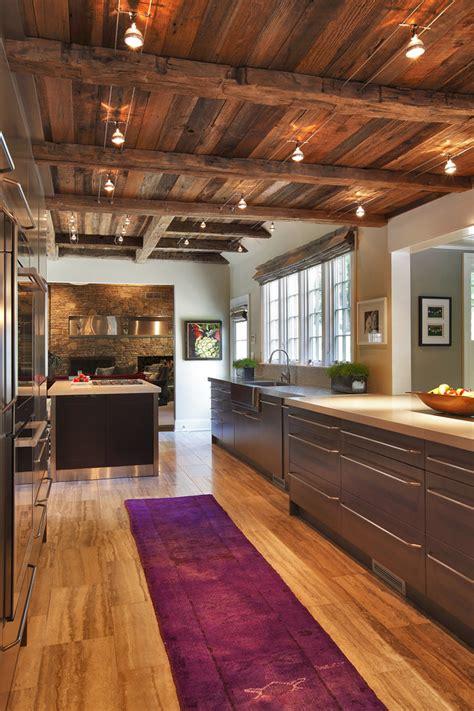 unique kitchen  wooden ceiling  house