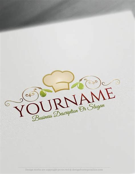 create  logo  chef cuisine logo templates
