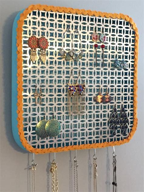 diy wall jewelry organizer hgtvs