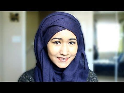 criss cross layered hijab style   hijab hijab