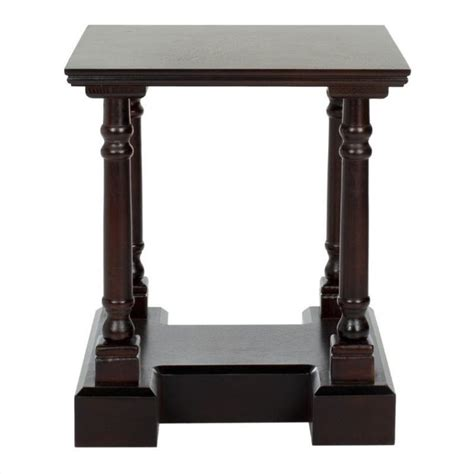 Safavieh Terry Wood End Table In Dark Cherry Amh5707d