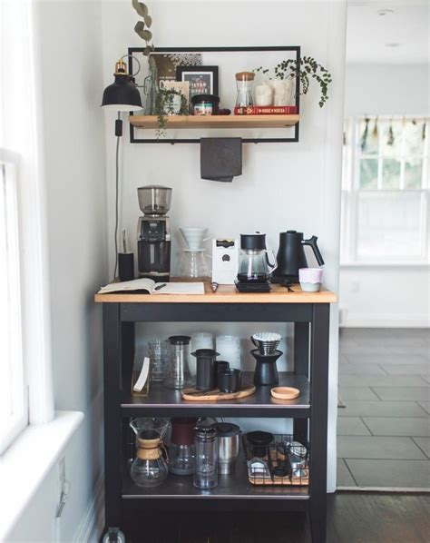 This coffee bar idea brings together old and new. 22 Amazing Kitchen Coffee Bar   Station Ideas   Designs   DIY   Corner   Small   Inspiration ...