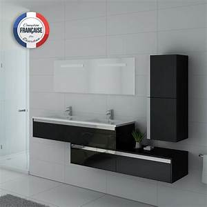 Meuble Salle De Bain Asymétrique : ensemble meubles salle de bain meubles salle de bain noir bellissimo n ~ Nature-et-papiers.com Idées de Décoration