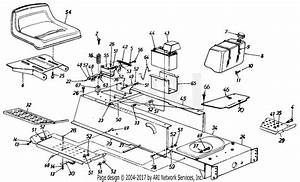 Mtd 135n604f401  1995  Parts Diagram For Seat  Battery  Fuel