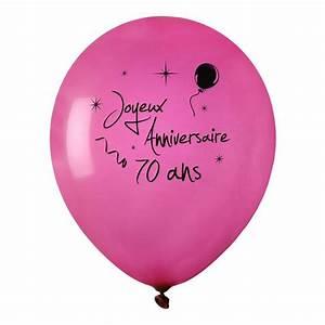 Idee Deco Table Anniversaire 70 Ans : acheter ballon joyeux anniversaire fuschia 70 ans x 8 mariage anniversaire 1001 deco table ~ Dode.kayakingforconservation.com Idées de Décoration