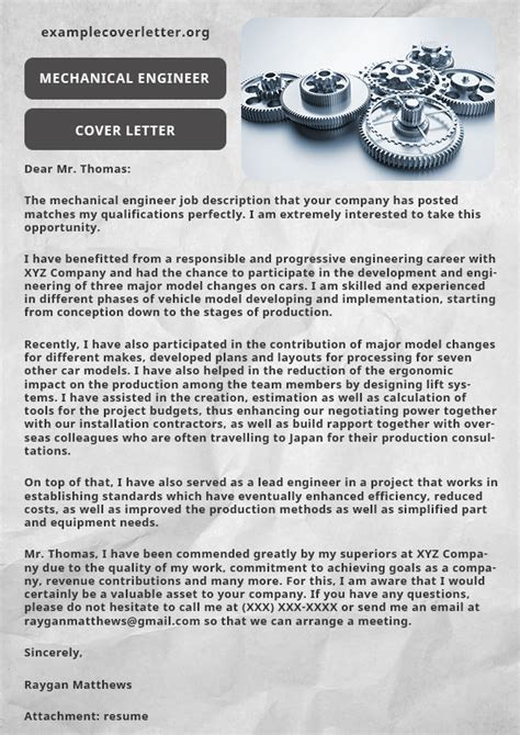 mechanical engineer cover letter 28 images engineering