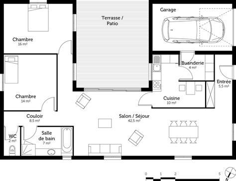 plan cuisine 3d gratuit cuisine gorgeous plan maison en u plan maison en u