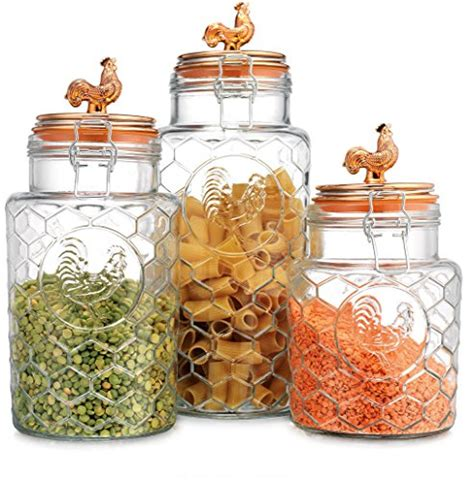 Country Kitchen Glass Jars by Coolest 19 Sealed Glass Canisters Top 10 Home Products