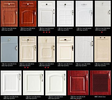 types of kitchen cabinets materials jisheng pvc series kitchen cabinet with thermofoil