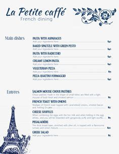french menu templates images menu template menu