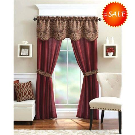 unique curtain panel valance window treatment set elegant
