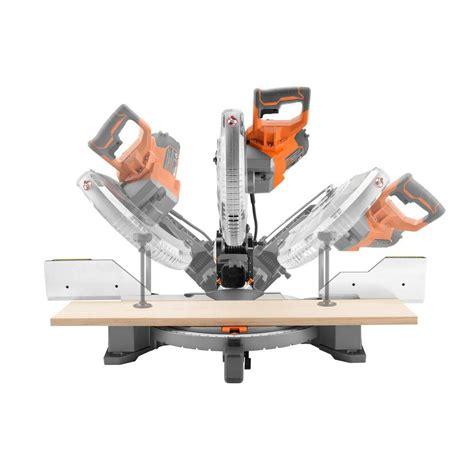 miter vs table saw ridgid adjustable miter table dual bevel miter saw 15 amp
