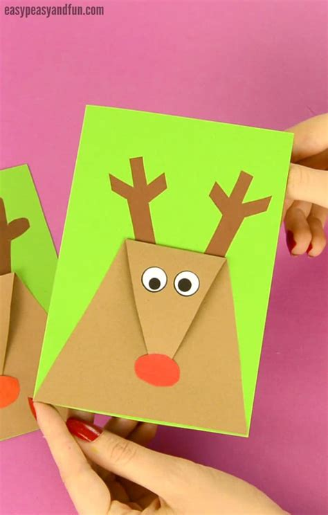 reindeer christmas card easy peasy and fun