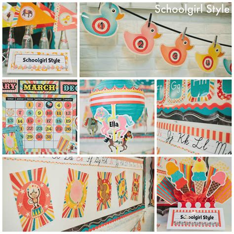 vintage circus classroom decor collection schoolgirlstyle