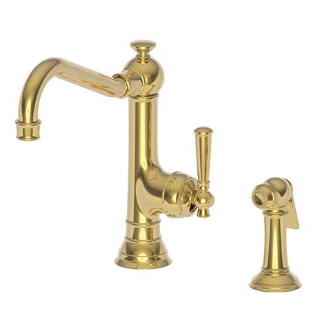 newport brass kitchen faucets newport brass 2470 5313 jacobean kitchen faucet with side
