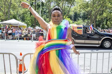 Billy Porter Pride The Cast Pose Parade