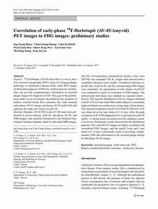 (PDF) Correlation of early-phase...