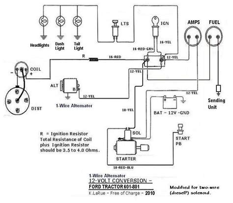 Naa Ford Tractor Wiring Diagram Light by 801 12volt 1wire Projects To Try Ford Tractors 8n