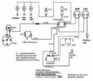 12 Volt Alternator Wiring Diagram : 801 12volt 1wire projects to try ford tractors 8n ~ A.2002-acura-tl-radio.info Haus und Dekorationen