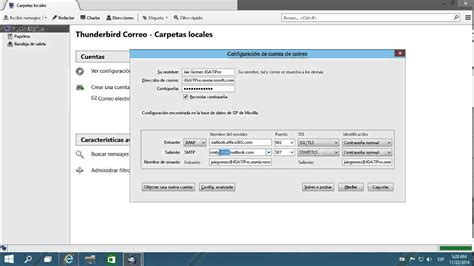 Office 365 Mail Thunderbird by Configurar Correo De Office 365 En Mozilla Thunderbird