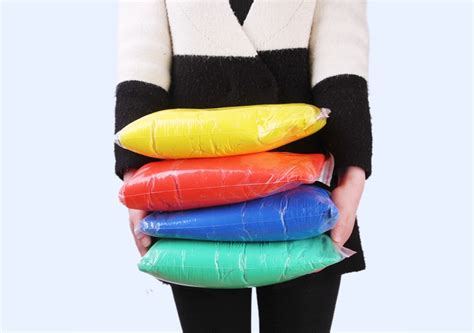 1 Bag 1kg Air Drying Super Light Plastic Clay Colorful