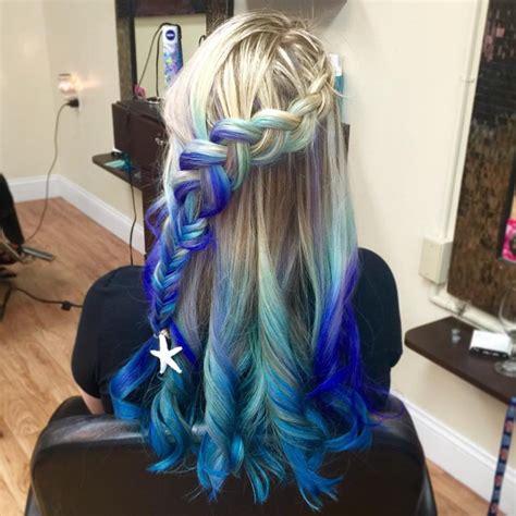 Blonde And Blue Mermaid Hair Hair Colors Ideas