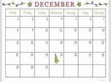 December 2018 Calendar Printable Pretty December 2018