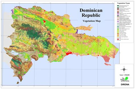 dominican republic vegetation map dominican republic