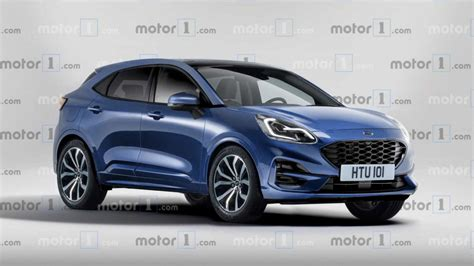 upcoming ford puma compact suv rendered debut   year