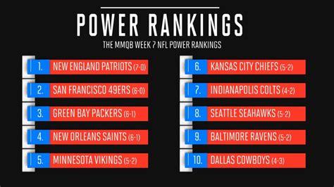 mmqb releases  week  nfl power rankings sports