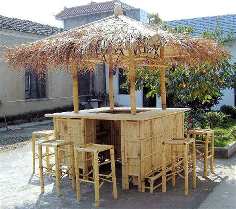 real bamboo tiki bars for home or business landscaping