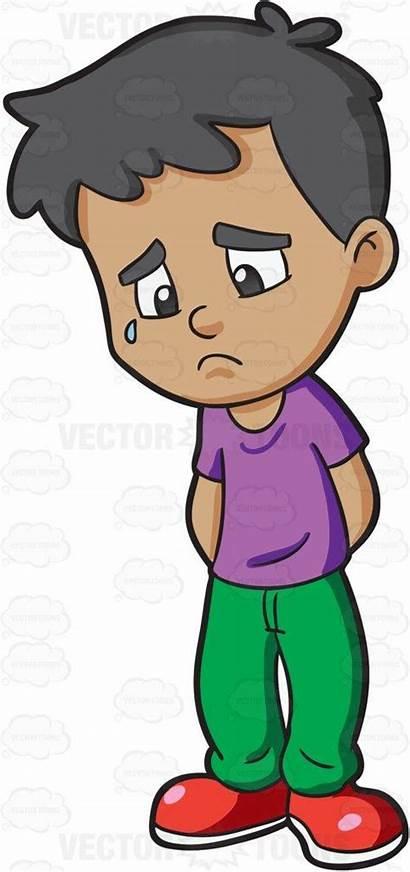 Sad Boy Cartoon Clipart Feeling Gloomy Clip