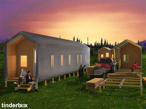 architecture student designs modular flat pack emergency shelters
