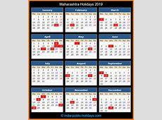 Maharashtra Holidays 2019