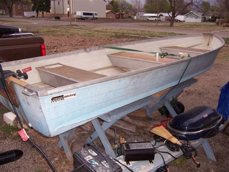 Montgomery Ward Sea King 14 Aluminum Boat 14 foot v bottom montgomery wards seaking aluminum boat