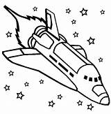 Coloring Printable Space Spaceship Shuttle sketch template