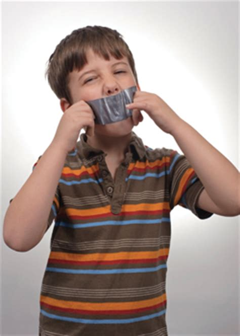 talker boy  duct tape   mouth