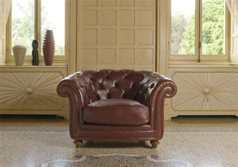 Oxford Leather Chesterfield Armchair