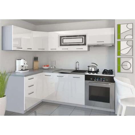 cuisine equipee complete justhome lidja 1 l cuisine équipée complète 130x230 cm couleur laqué haute brillance