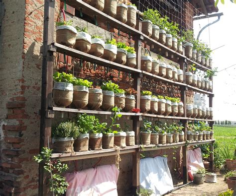 Watering Vertical Gardens by Self Watering Vertical Garden With Recycled Water Bottles