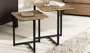 Table Gigogne Design : tables basse gigognes design en teck recycl et m tal ~ Teatrodelosmanantiales.com Idées de Décoration