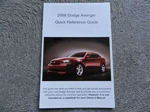 2008 Dodge Avenger Quick Reference Guide Owners Manual